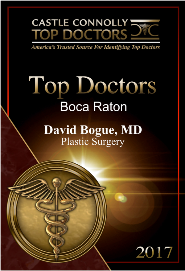 Castle Connolly Top Doctors 2017 David Bogue Boca Raton Florida plastic surgeon