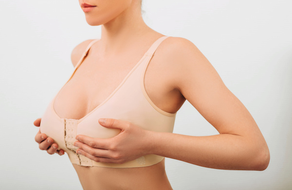 image of woman in compression bra